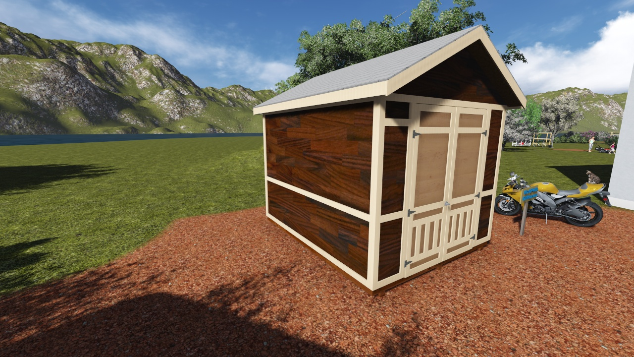 10x12 Tall Gable Shed Plan