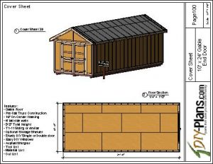 10x24 Gable end door - Sheet - Page100 - Cover Sheet