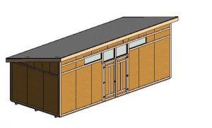 12'x28'  Modern - 3D View - Cover Sheet 3d 1
