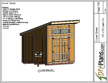 10x10 Modern Shed Plan