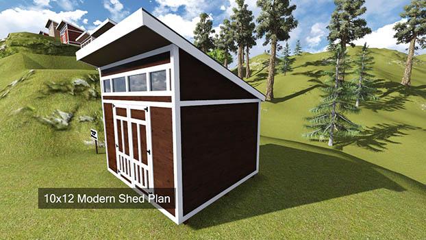 10x12 Modern Shed Plan