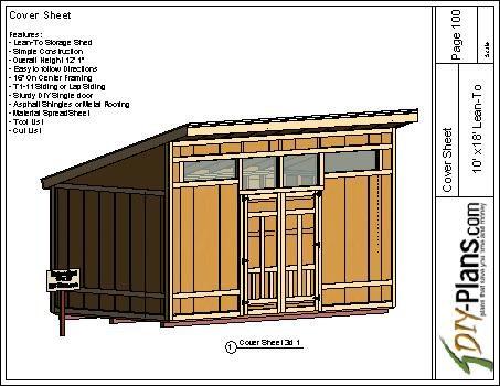 10x18 Modern Shed Plan