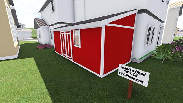10x22 Lean To Shed Plan