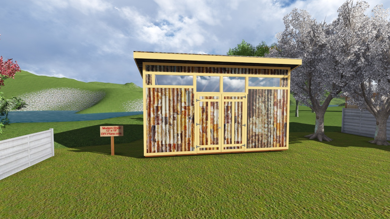12x18 modern shed plan for Modern shed plans