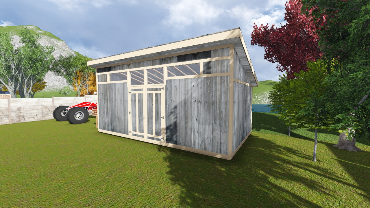 12x22 modern shed plan for Contemporary shed designs