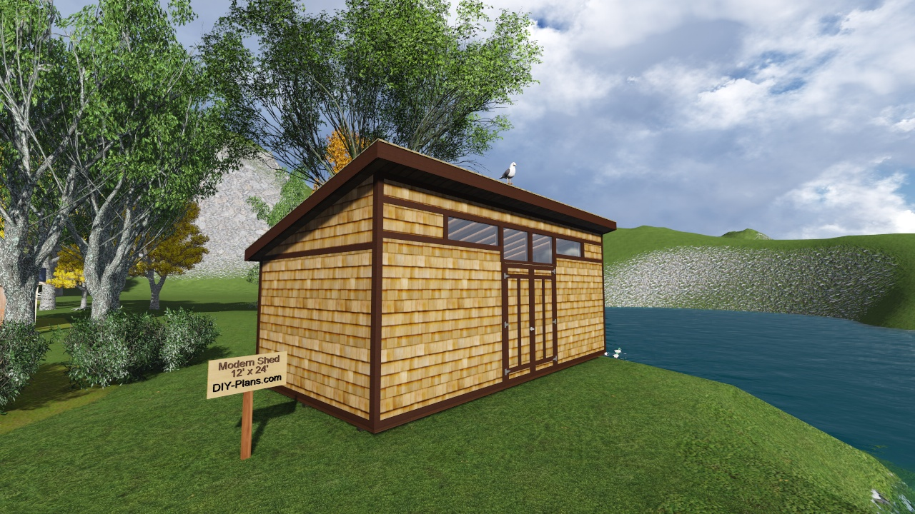12x24 modern shed plan for Contemporary shed designs