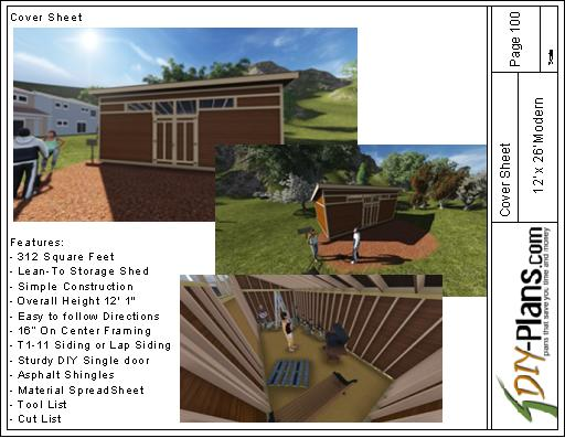 simple construction house 12x26 modern shed plan