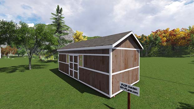 12x28 garden shed plan for 12x28 shed