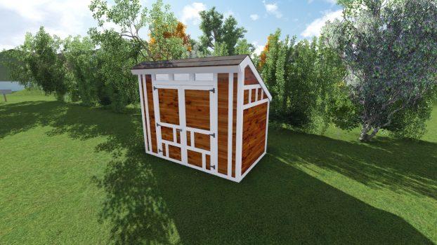 6x10 Saltbox Shed Plan
