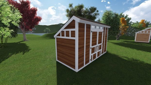 6x14 saltbox shed plan for New england shed plans
