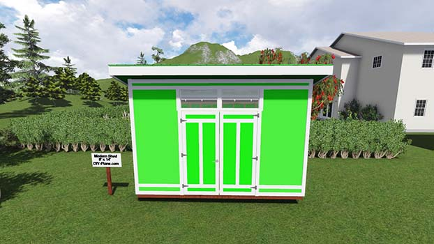 8 15 Shed Plans : Modern shed plan