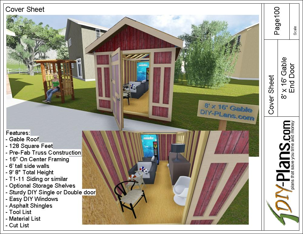8x16 storage shed plan for Home design 8x16