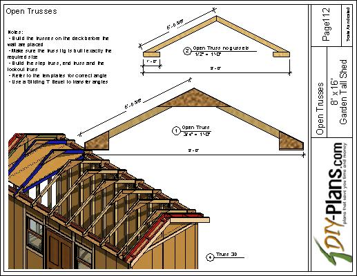 8x16 Tall Garden Shed Plan For A Prehung Door