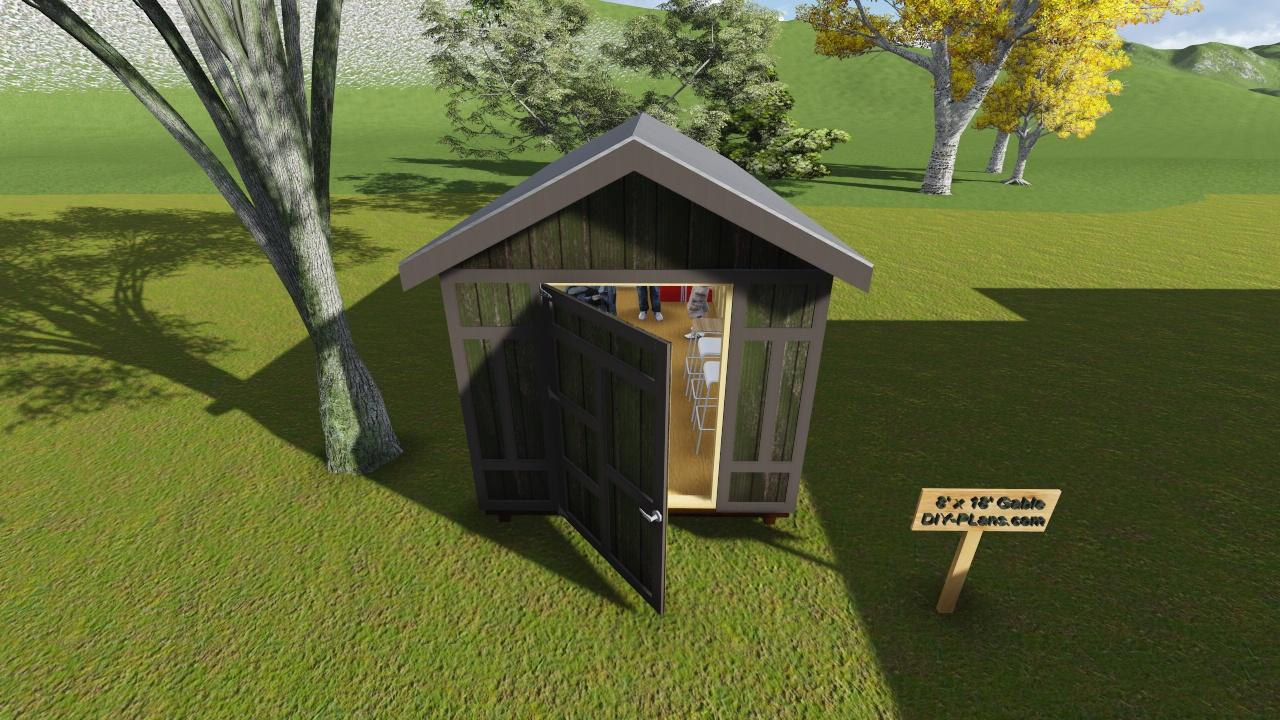 8x18 Gable Storage Shed Plan