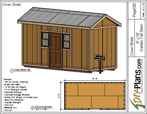 DIY Shed Plan For 8x18 Garden Extra Tall For Normal Door