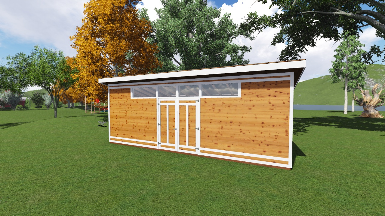 8x26 modern shed plan for Modern shed plans