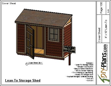 4x10 Lean To Shed Plan