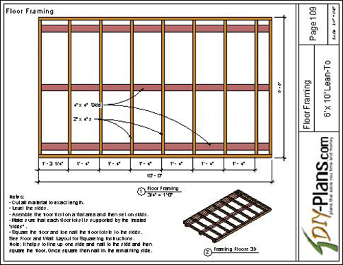 6x10 lean to shed plan for Lean to style house plans