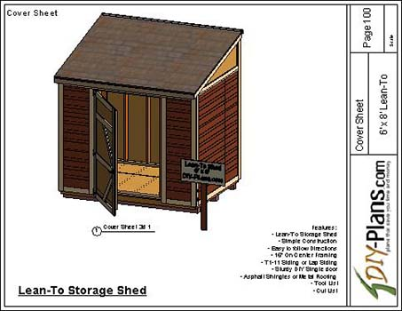 6x8 Lean To Shed Plan