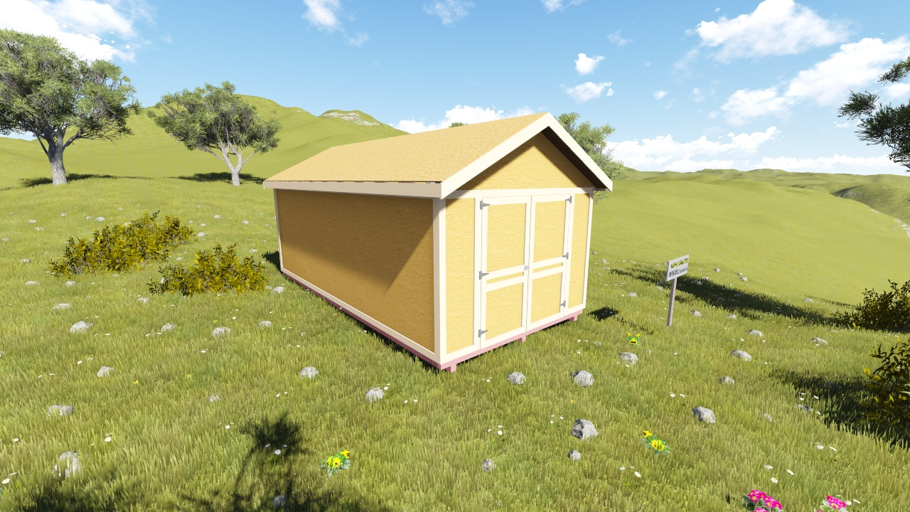 10x20 gable shed plan for Gable sheds