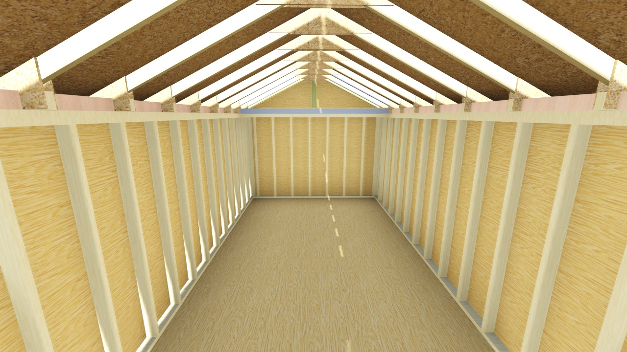 10x20 gable shed plan for Gable barn plans