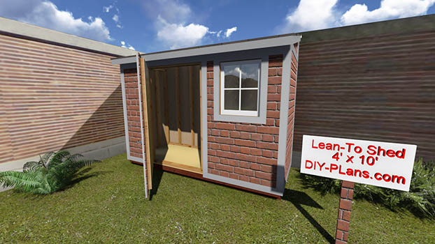 6x10 Lean To Shed Plan
