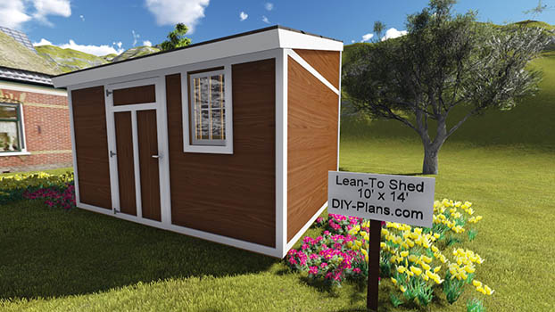 10x14 Lean To Shed Plan