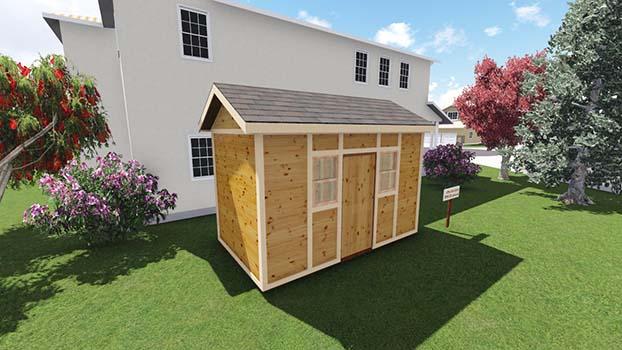 8x14 garden shed 8 walls - Garden Sheds 8 X 14
