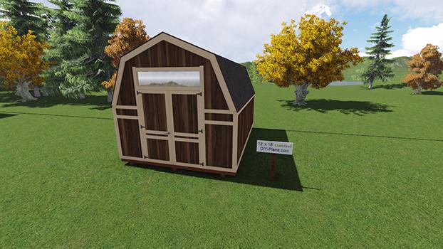12x18 Barn Shed Plan