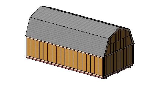 12x24 Barn Shed Plan