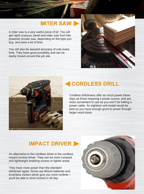 Shed Building Tools [Infographic]