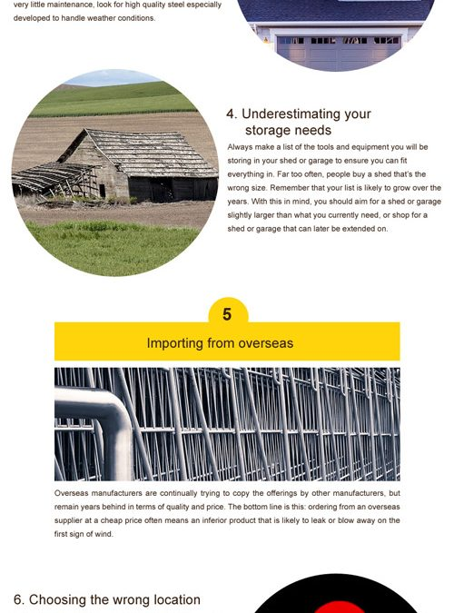Shed Building Mistakes To Avoid [infographic]