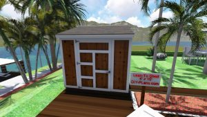 6x8 lean to shed plan front
