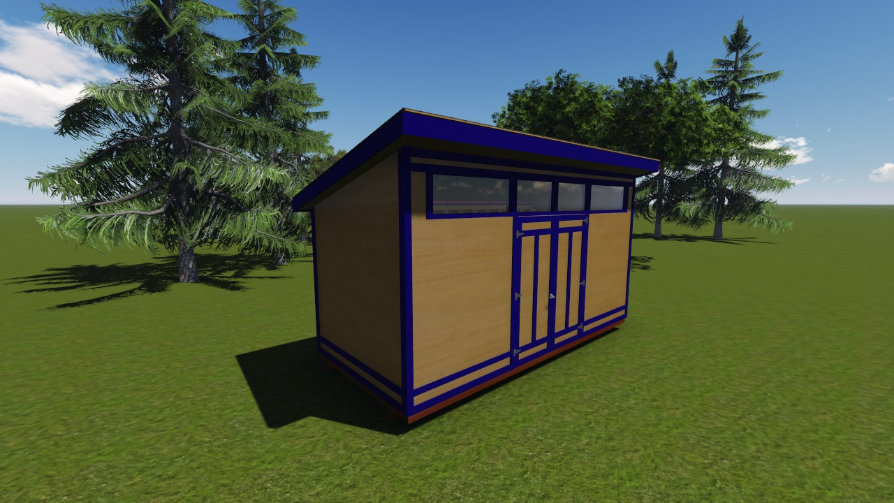 8x18 modern shed plan for Contemporary shed designs