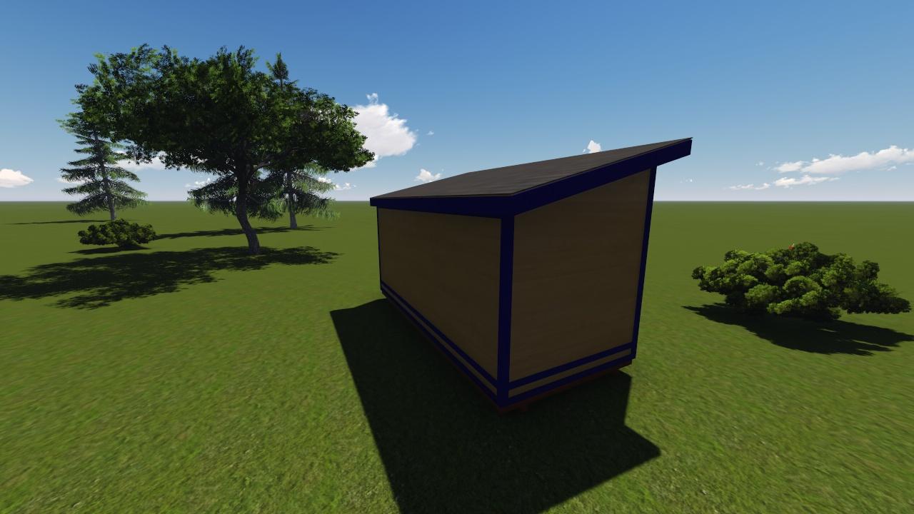 ^ 8x18 Modern Shed Plan