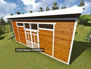 modern sheds