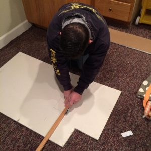 Measure the drywall piece