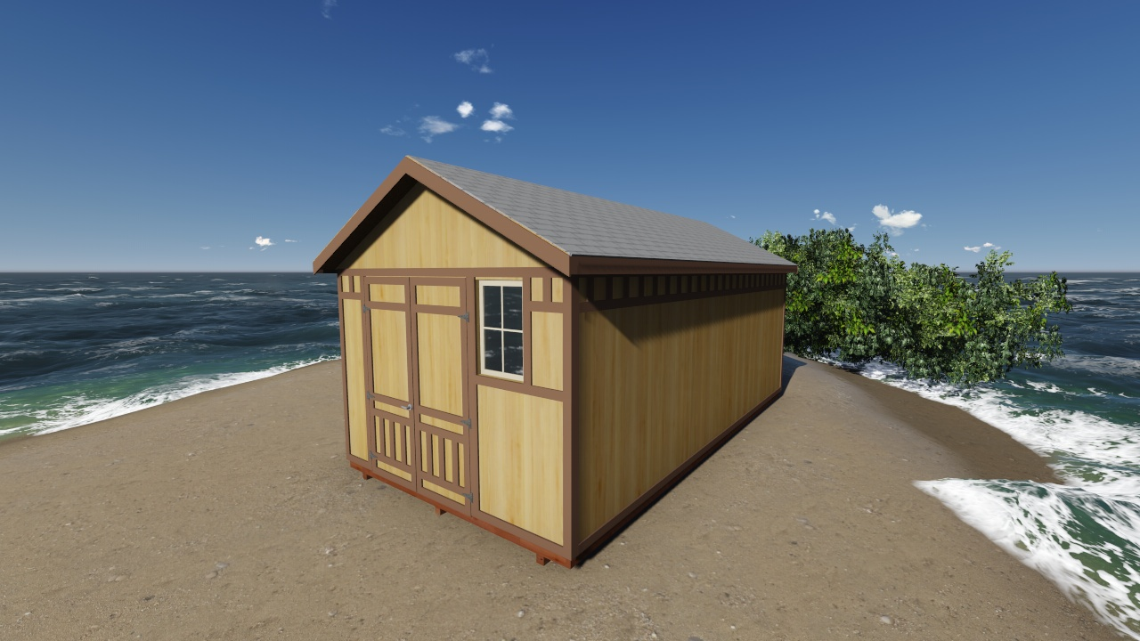 12x24 gable storage shed plan for 12x24 garage plans