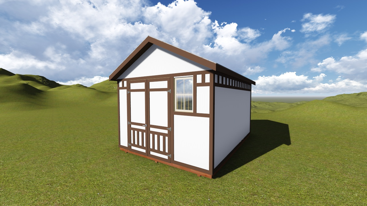 12x16 Tall Gable Storage Shed Plan