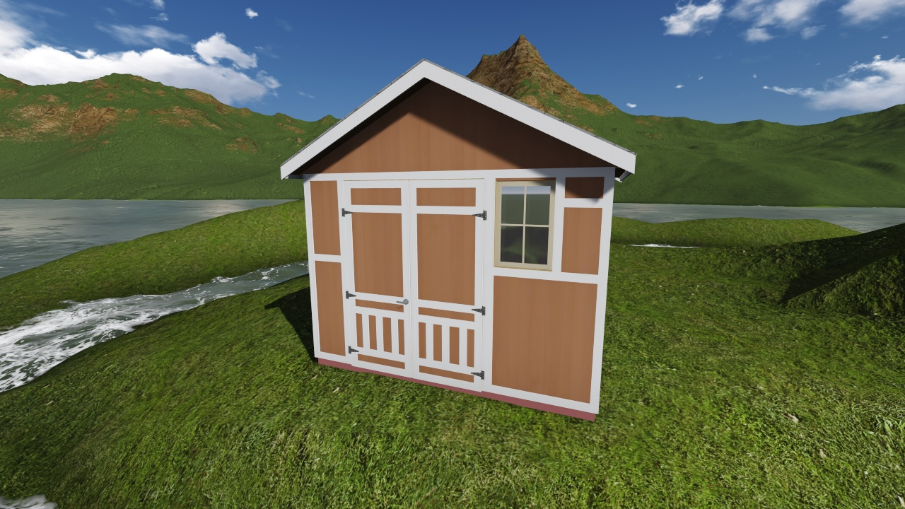 12x8 Tall Gable Storage Shed Plan