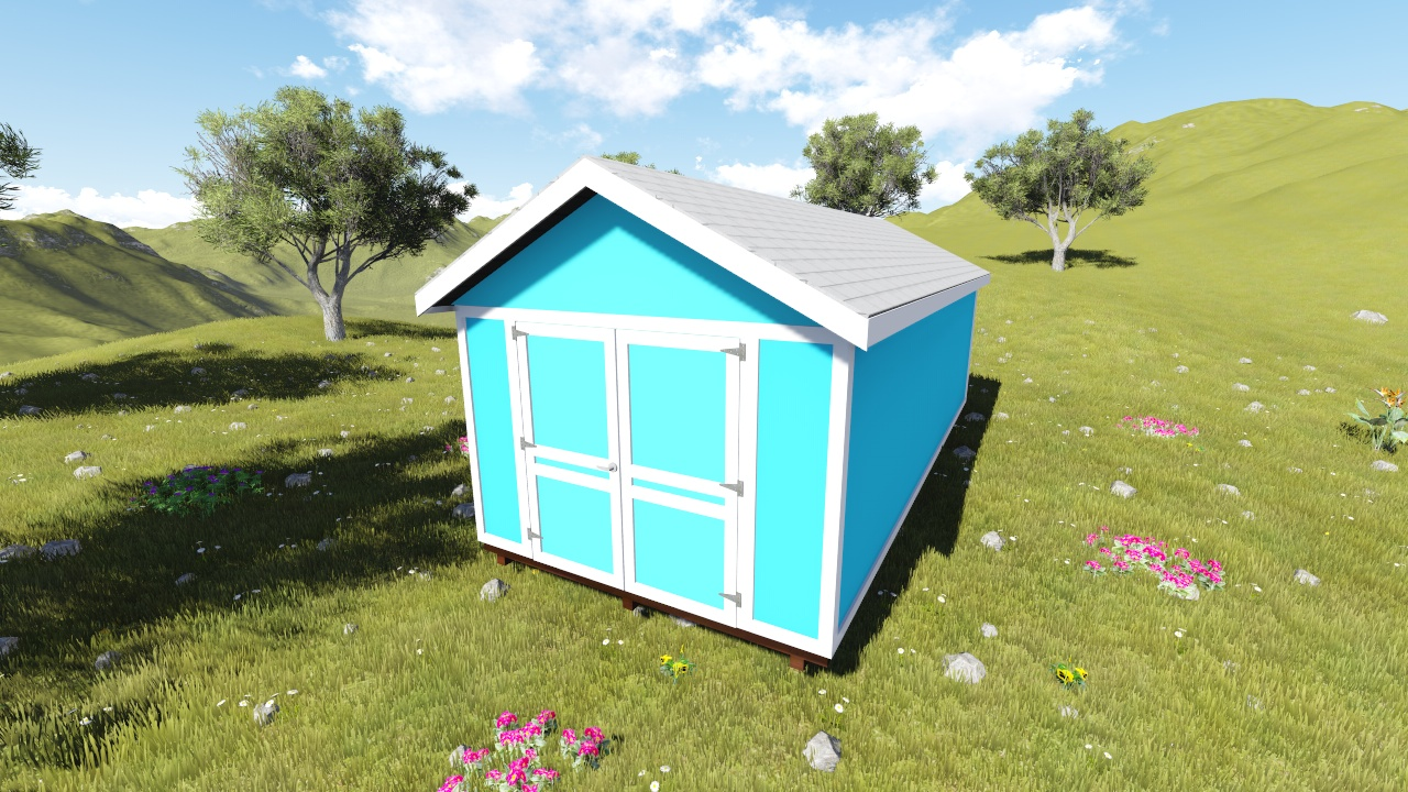 10x24 gable shed plan for Gable sheds