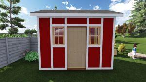 8x12 Tall Garden Shed Plan For A Prehung Door 1