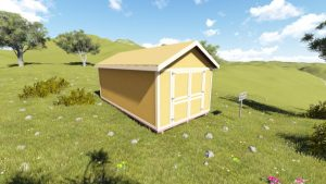 10x20 Gable Shed Plan front