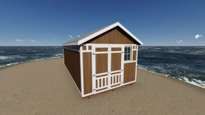 12x28 Gable Storage Shed Plan front