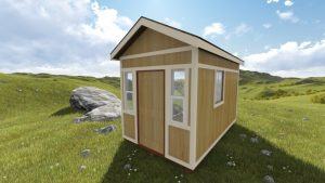 8x12 Tall Gable Storage Shed Plan front