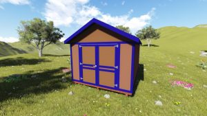 10x14 Gable Shed Plan Front