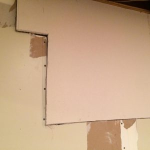 Check the fit of your scrap drywall