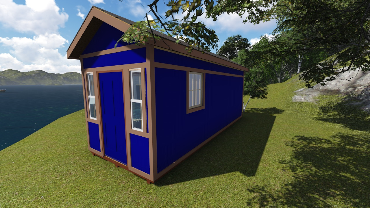 8x22 tall gable storage shed plan for Gable storage shed plans