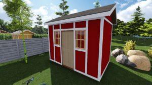 8x12 Tall Garden Shed Plan For A Prehung Door 2