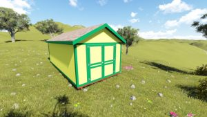 10x22 Tall Gable Shed Plan5